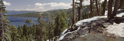 Emerald Bay Photograph - High Angle View Of The Eagle Falls by Panoramic Images