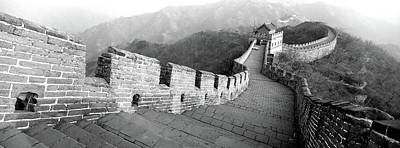 Great Wall Of China Photograph - High Angle View Of The Great Wall by Panoramic Images