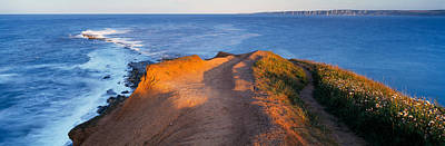 High Angle View Of The Sea From A Art Print by Panoramic Images