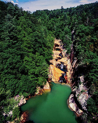 Tallulah Photograph - High Angle View Of The Tallulah Gorge by Panoramic Images