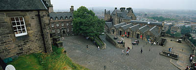 Edinburgh Castle Photograph - High Angle View Of Tourists In A by Panoramic Images