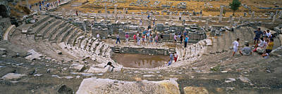 Ancient Civilization Photograph - High Angle View Of Tourists In An by Panoramic Images