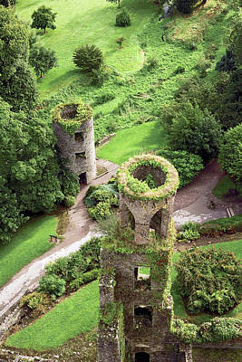 Irish Castle Photograph - High Angle View Of Towers, Blarney by Miva Stock