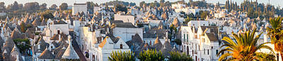 Alberobello Photograph - High Angle View Of Trulli Houses by Panoramic Images