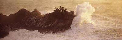 Splashing In The Tide Photograph - High Angle View Of Waves Breaking by Panoramic Images