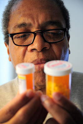 African American Diet Photograph - High Blood Pressure Pills. by Oscar Williams