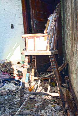 Abandoned Photograph - High Chair by Miss Judith