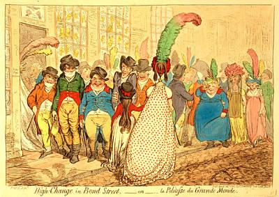 High Change In Bond Street,  Ou La Politesse Du Grande Print by Litz Collection