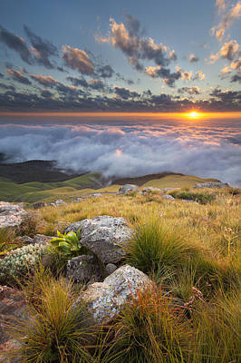 Photograph - High Cloud Sunrise by Des Jacobs