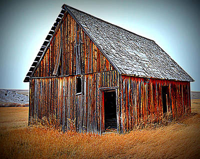 Abandoned Photograph - High Country Barn by Miss Judith