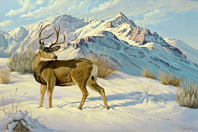 Mule Painting - High Country Buck by Paul Krapf