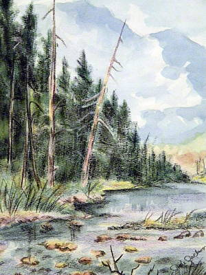 Painting - High Country Creek by Dale Jackson