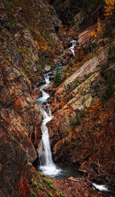 Jeff Johnson Photograph - High Country Falls by Jeff Johnson