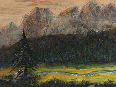 Painting - High Country Sunset by Carl Bandy