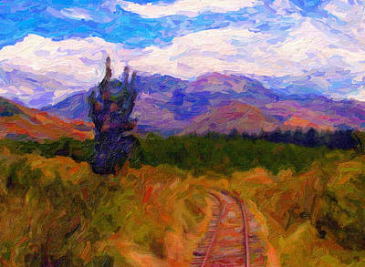 Digital Art - High Country Tracks by Chuck Mountain