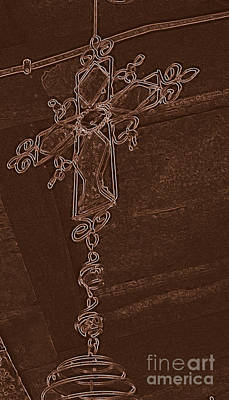 Handmade Icon Photograph - High Cross Up Above  by ARTography by Pamela Smale Williams