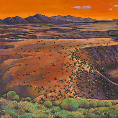 Taos Painting - High Desert Evening by Johnathan Harris