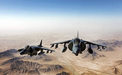 Afghanistan Digital Art - High Desert Harriers by Peter Chilelli