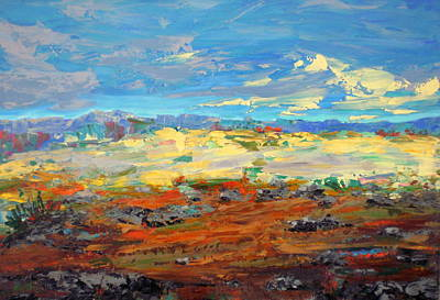 Landscape Wall Art - Painting - High Desert by Marilyn Hurst