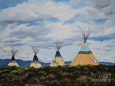 High Desert Painting - High Desert Quad by Mary Rogers