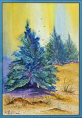 Painting - High Desert Spirit by Mary Dove
