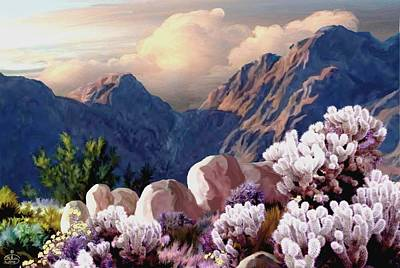 Yosemite Painting - High Desert Sunrise by Ron Chambers
