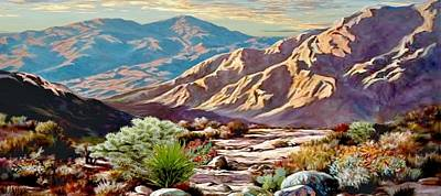 Painting - High Desert Wash by Ron Chambers