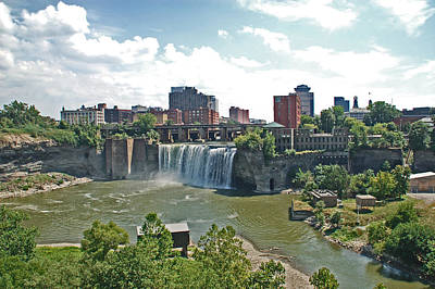 High Falls Art Print by Aimee L Maher Photography and Art Visit ALMGallerydotcom
