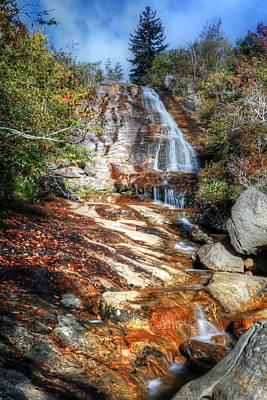 Photograph - High Falls At Graveyard Fields On The Blue Ridge Parkway by Carol Montoya