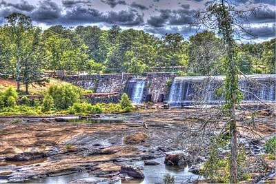 High Falls Dam Art Print by Donald Williams