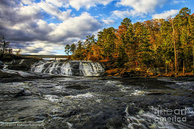 Photograph - High Falls From The Towaliga River by Barbara Bowen