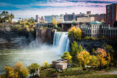 Photograph - High Falls Rochester by Sara Frank