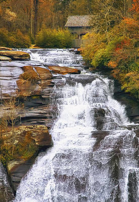 Overcast Photograph - High Falls by Scott Norris