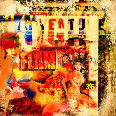 Magazine Mixed Media - High Flame Fiesta by Russell Pierce