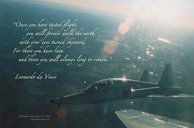 Aircraft Poster Photograph - T-38 Leonardo Da Vinci by Wade Meyers