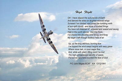 Poem Digital Art - High Flight by Pat Speirs