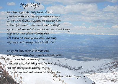 Photograph - High Flight by Paulette B Wright
