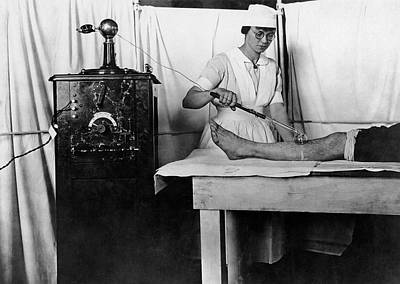 High Frequency Vacuum Treatment Art Print by Otis Historical Archives, National Museum Of Health And Medicine