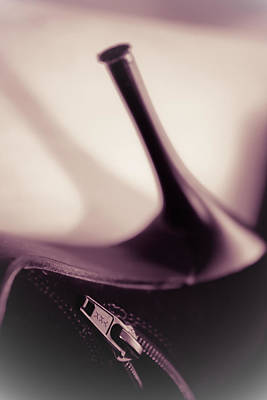Photograph - High Heel Of A Brown Shoe by Vlad Baciu