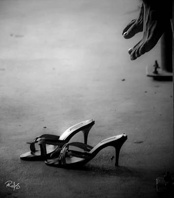 High Heels Awaiting Art Print by Allan Rufus
