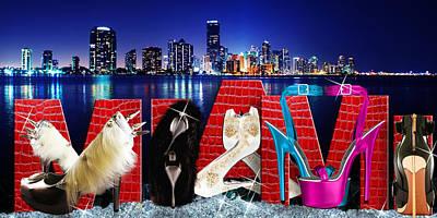 High Heels Miami Art Print