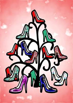 High Heels Tree Art Print