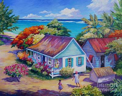 Caribbean Painting - High Level Meeting by John Clark