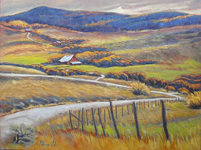 Wall Art - Painting - High Mountain Living by Gina Grundemann