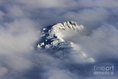 Photograph - High Mountain Snow Caps Peaking Through The Clouds by James BO Insogna