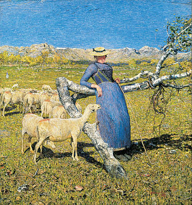 High Noon In The Alps Print by Giovanni Segantini