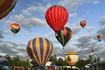 Photograph - High On Hot Air by Wes and Dotty Weber