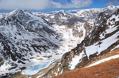 Photograph - High On Mount Evans With A View Of Mount Bierstadt by Cascade Colors