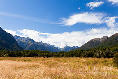 Thomas Kinkade Royalty Free Images - High peaks of Eglinton Valley in Fjordland NP NZ Royalty-Free Image by Stephan Pietzko