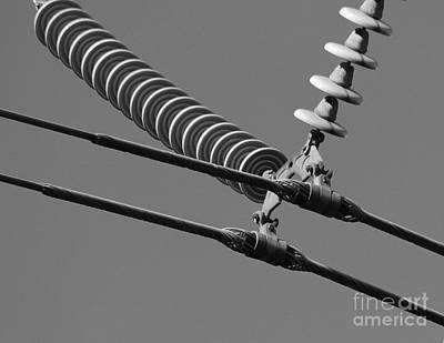 Art Print featuring the photograph High Power Line - 4 by Kenny Glotfelty
